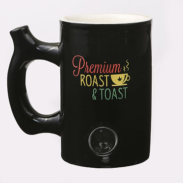 Roast & Toast Black With Rasta Mug