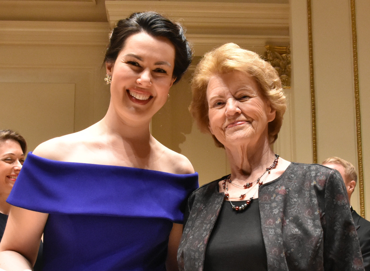 Veronica Pollicino Lyndon Woodside Encouragement Award Presented by Jane Woodside