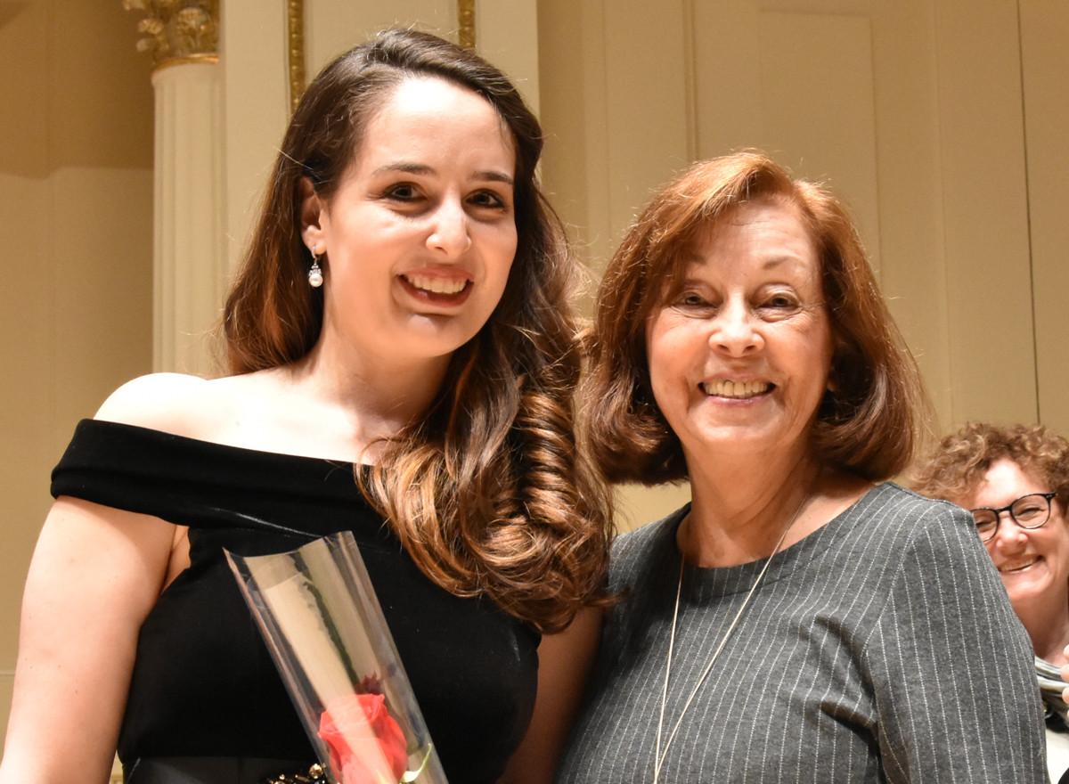 Suzanne Karpov Leopold Damrosch Award Presented by Janet Plucknett