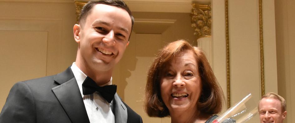 Matthew Hill Alfred A. Hubay Award Presented by Janet Plucknett
