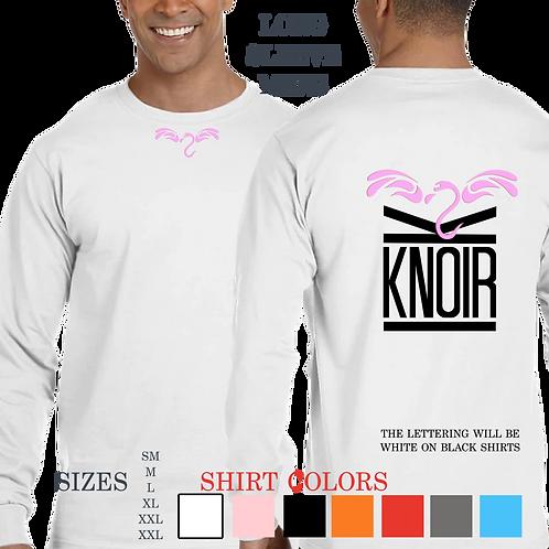 Mens KNOIR FLYMINGO Long Sleeve Crew Neck T- shirt