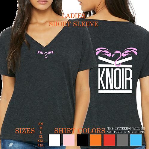 Ladies KNOIR FLYMINGO Short Sleeve V- Neck