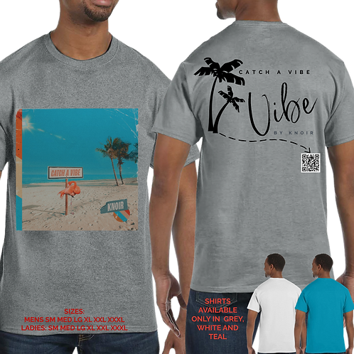 """KNOIR LIMITED SIGNED """"CATCH A VIBE""""    T-SHIRT"""