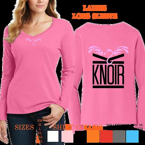 Ladies KNOIR FLYMINGO Long Sleeve V- Neck