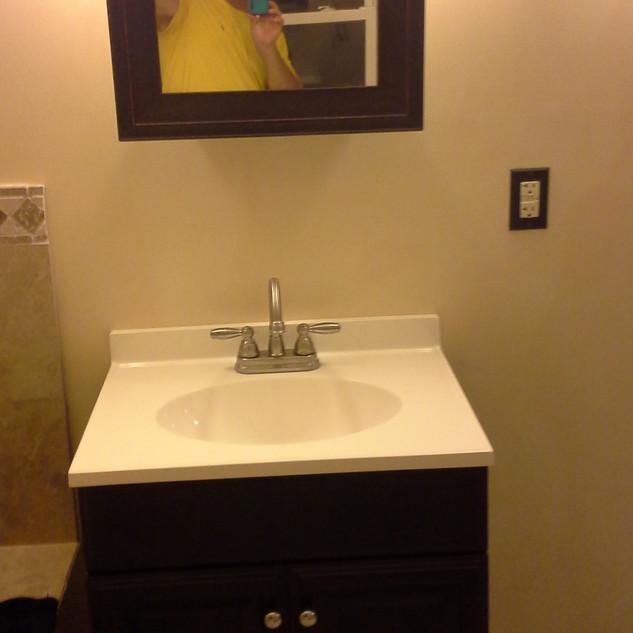New Vanity Sink