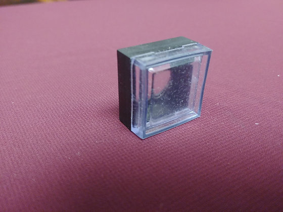 Plastic frame with rubber cover for on/off switches