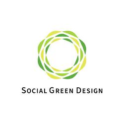 Social Green Design / logo