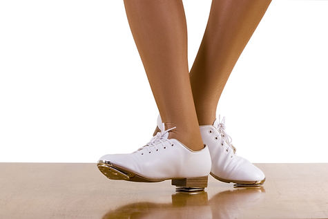 White tap shoes