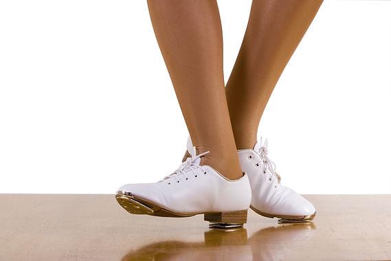 zapatos de tap blancas