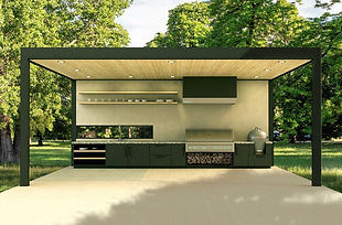 Outdoor kitchen building