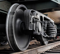 Railroad wheel sets shipping freight