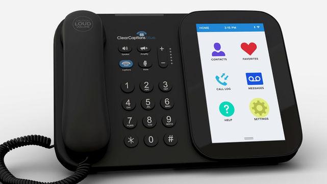 ClearCaptions Blue Captioning Phone