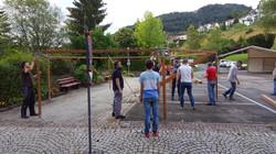 Aufbau der Zelte