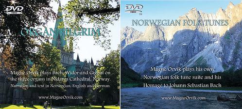 ORGAN PILGRIM & NORWEGIAN FOLK TUNES, DVD-video by Magne Orvik