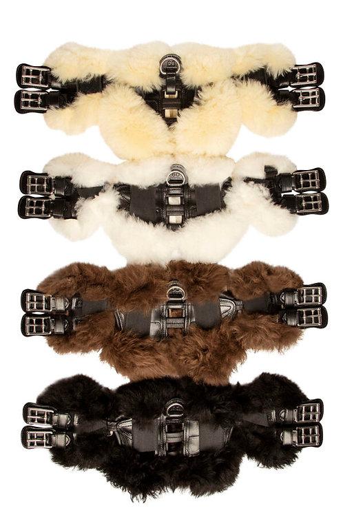 Scharf Freedom Dressage Girth Sheepskin pads