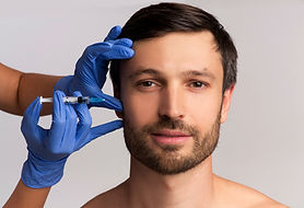 Male Injective Cosmetology. Middle Aged