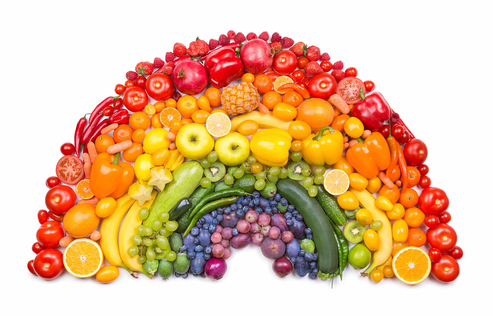 Taste the fruit and vegetable rainbow!