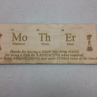 Mom Chemistry Plaque