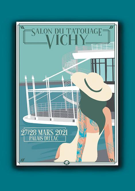 Affiche Salon du Tatouage Vichy
