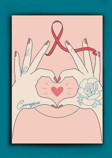 Artwork A4 Courageuse Octobre Rose