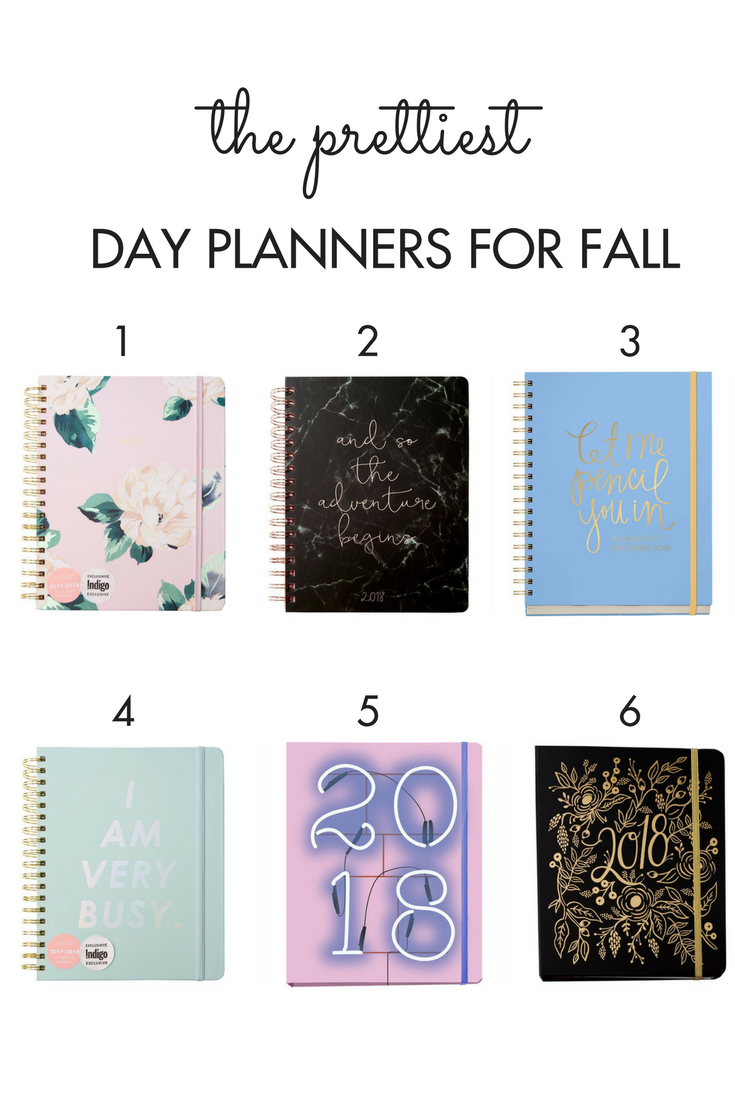 6 of the prettiest day planners for fall from Chapters Indigo.