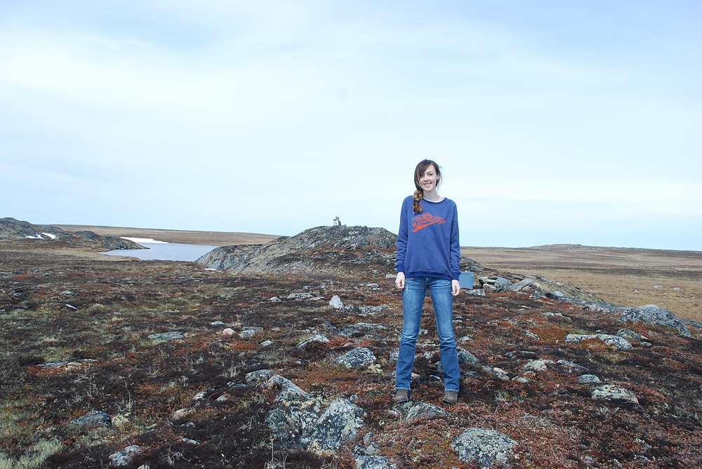 Exploring the tundra in Rankin Inlet, Nunavut