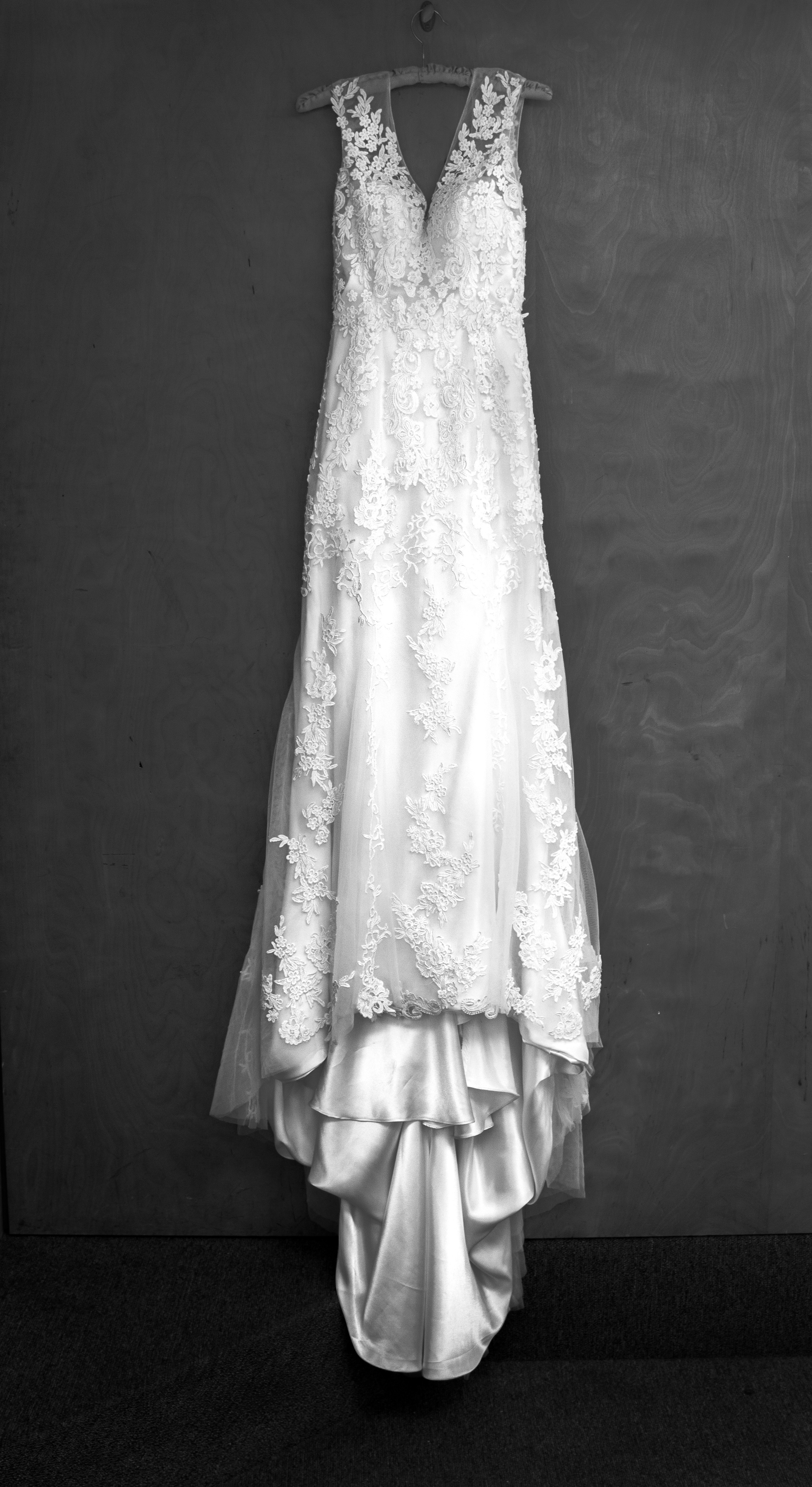 Bride Tori's wedding dress