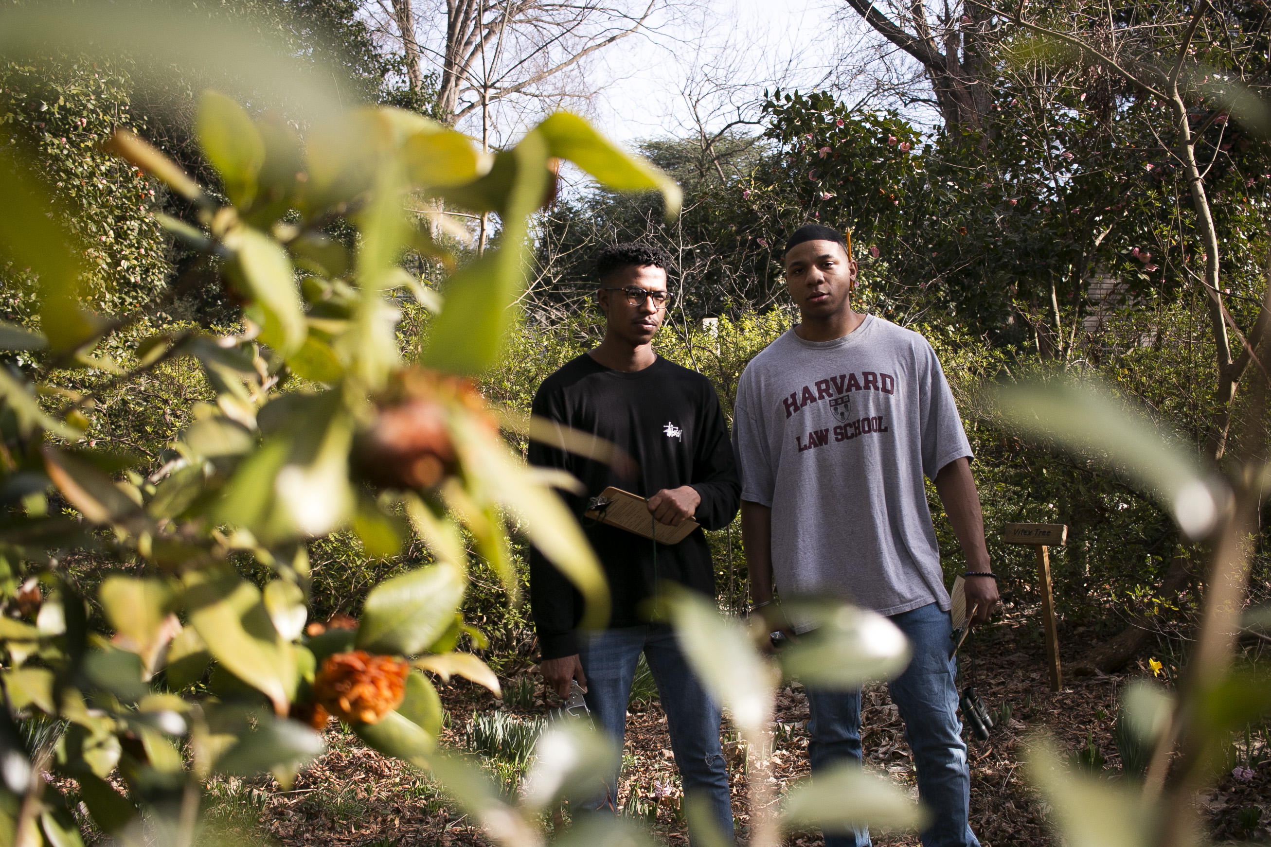 Sharod and Justin in the garden