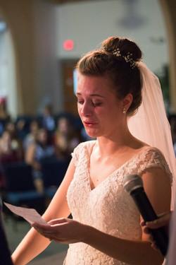 Tori and Noah exchange vows