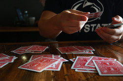 card game at Quills
