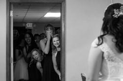 Tessa reveals dress to bridesmaids