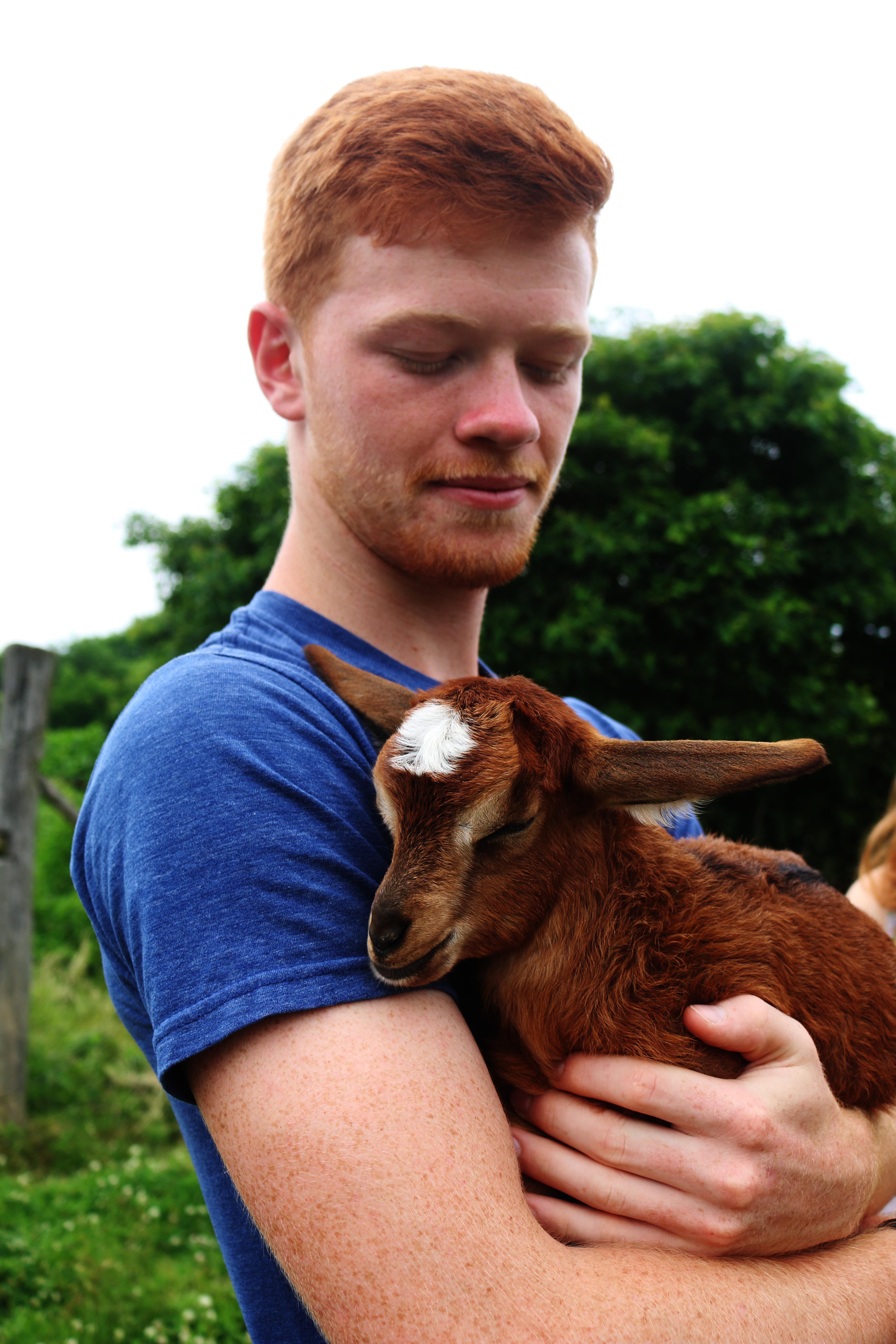 Owen at Owen's goat farm