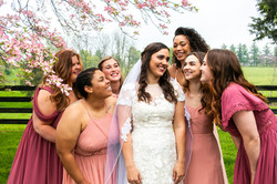 bride Taylor and bridesmaids