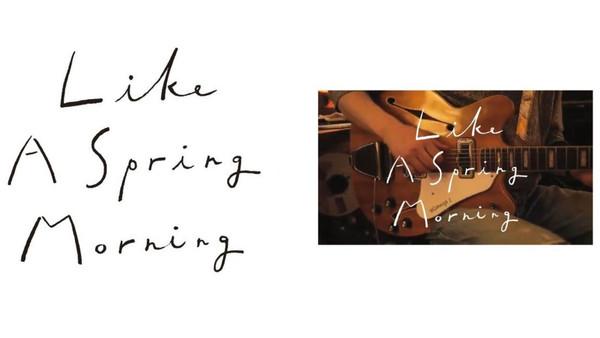 『Like A Spring Morning - Shinsuke Sasakura』Music Video タイトルロゴ