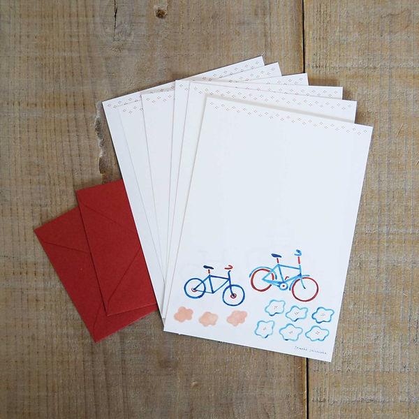 ミニレターセット, 自転車,shinozukatomoko
