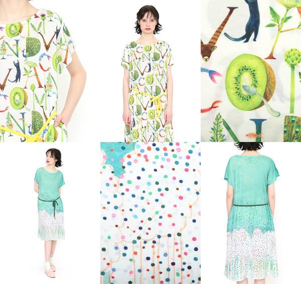 2020.4.30 デザインTシャツストア グラニフ コラボレーションワンピース