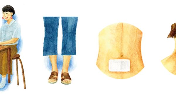 リンネル9月号『夏冷えの不調を「直貼」で温めケア』