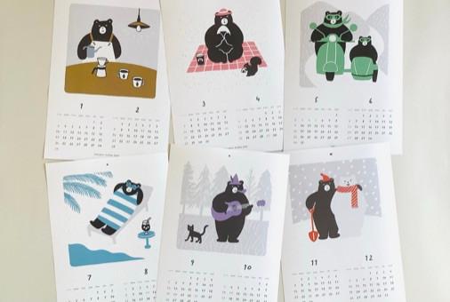2020.11.28 横森珈琲・2021年カレンダー