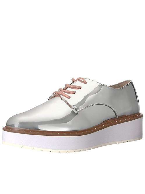 Women's Silver Oxfords.