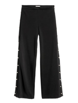 Black Beaded Pants