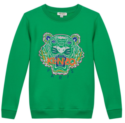 Tiger Embroidery and Logo Sweatshirt