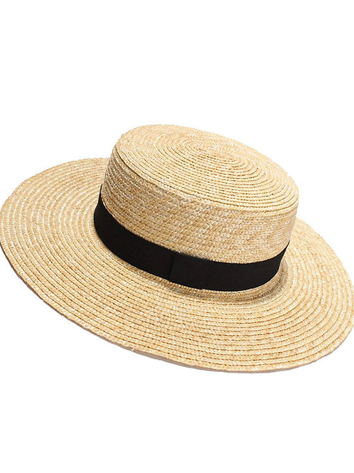 Wide beam straw hat