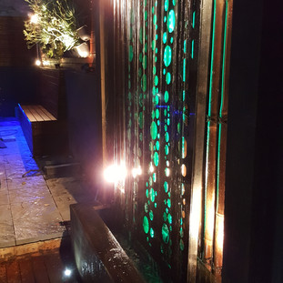 Vertical Garden and Water Feature by Greenwest