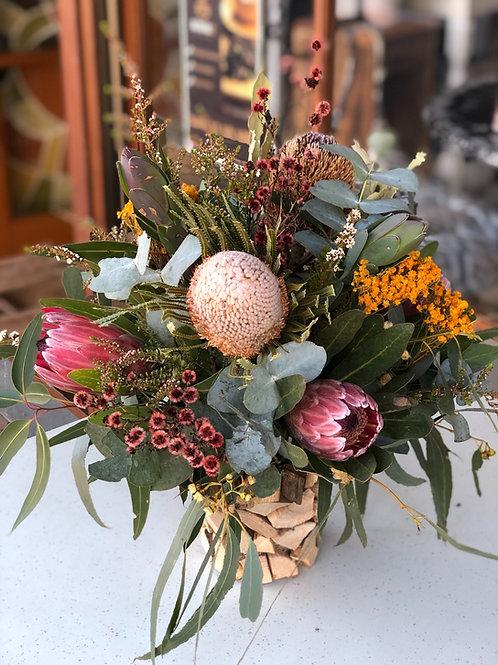 Native Flowers Arrangement in a basket
