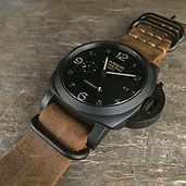 Panerai Luminor Ceramic on a distressed
