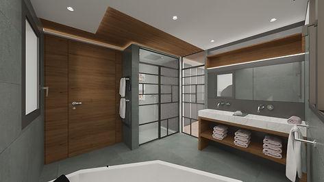 Meuble SDB marbre+support étagère bois.j
