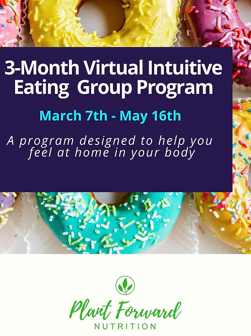 3-Month Virtual Intuitive Eating Program