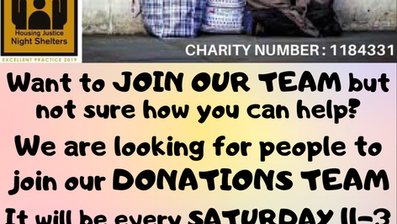 JOIN OUR DONATIONS TEAM