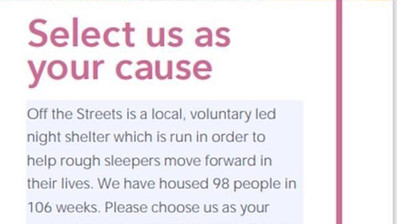 Choose us as your cause
