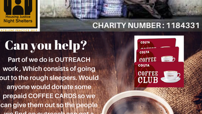Donate a pre paid coffee card